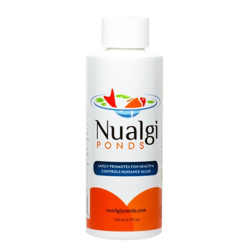 Nualgi Ponds Fish Health and Algae Control 60 ml Safe For Fish Plants Birds and Pets (NUP02)