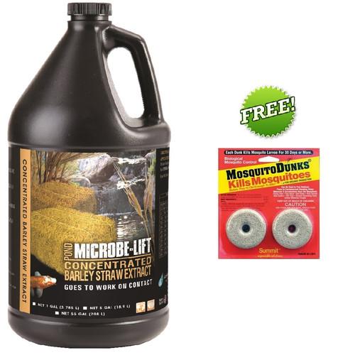 Microbe-Lift Barley Straw Extract 1 gal. MLCBSEG4 + FREE Mosquito Dunks 2 Pack