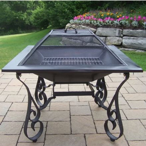 Oakland Living Fire Pits Stainless Steel Wood Burning Fire Pit OAA1793