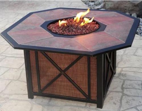 Oakland Living Haywood Aluminum Propane Fire Pit Table OAA2912