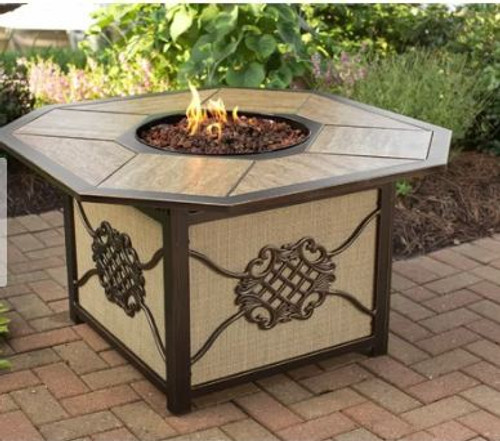 Oakland Living Heritage Aluminum Propane Fire Pit Table OAA3132