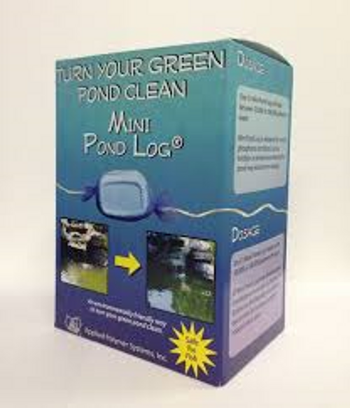 APS Pond Zinger Mini Pond Log Green Water Clarifier of Water  Fish & Plant Safe  Pond Logs, Mini Pond Logs, and Pond Zingers are designed to work in flowing conditions. As water moves over and around the log, it slowly dissolves, releasing its components into the water column causing excess inanimate nutrients, such as phosphorous, to bind together. As they bind together, the particulate gets heavier and heavier and then settles to the bottom of the pond or is filtered out.  It is important to note that Pond Logs do not remove all the inanimate nutrients, just enough to create a healthy ecosystem. Our pond products typically see a 75-90% reduction of phosphorus.   All APS products are safe for fish; no need to monitor pH.