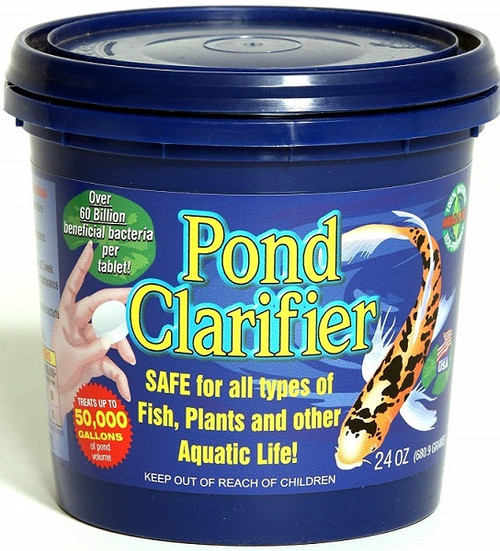 Microbial Science Laboratories Pond Clarifier Tablets 24 oz. Package (MSL83) •Improves Water Clarity and Water Quality  •Removes Excess Ammonia, Nitrite, Nitrate and Phosphate  •Biodegrades Sludge, Waste and Sediment  •Quickly Seeds the Biological Filter in the Spring