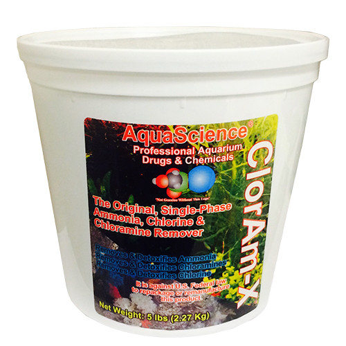 Hikari Aqua Science  ClorAm-X  Powder Ammonia and Chloramine Remover  5 lbs. 72322