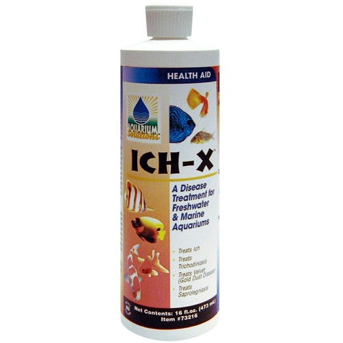 Hikari Ultimate Ich-X 1 Gallon 73336 Treat Ich & Ich Related Conditions Ich-X utilizes the most widely respected formulation for the treatment of ich, with a less toxic form of malachite green. •Treats Ich •Treats Cryptocaryonaisis •Treats Trichodiniasis