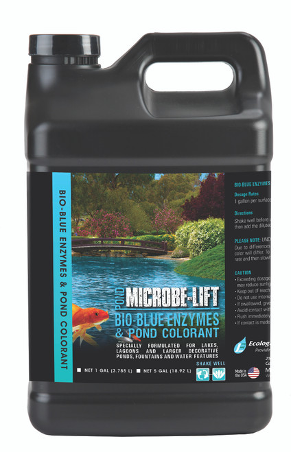 Microbe Lift Bio-Blue Enzymes & Pond Colorant 5 Gallon MLBB5
