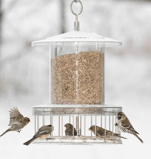 All Weather Bird Feeder With Wire Cage Holds 6 Qts AWFF736