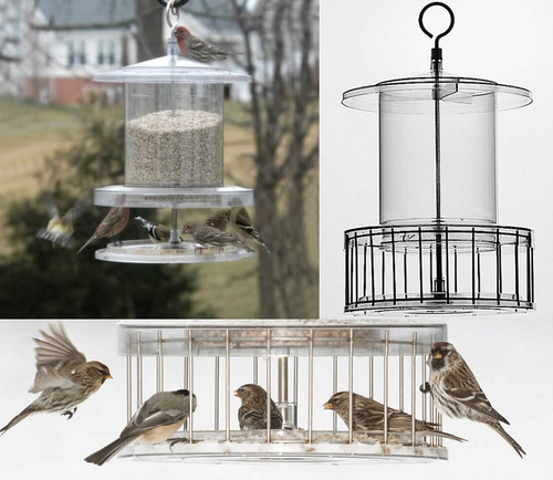 All Weather Bird Feeder With Wire Cage Holds 4 Qts AWFF734