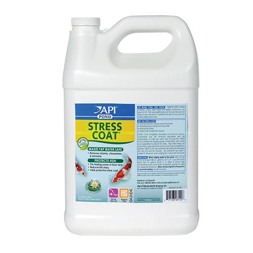 API Pond Care  Stress Coat Plus 1 Gallon Fish and Water Conditioner 140 C