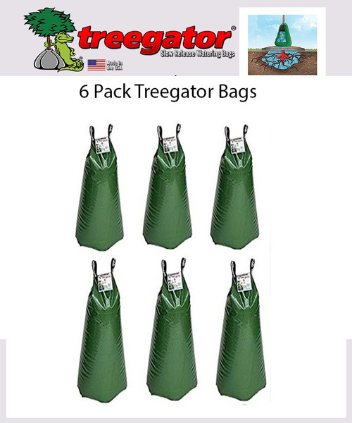 6 PACK Treegator Slow Release Drip Irrigation Watering Bag System 20 Gallon 98183 The Original Made in the U.S.A