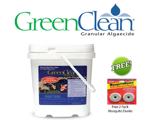 BioSafe GreenClean Algaecide 8 lb. 3002 8 Plus FREE Mosquito Dunks 2 Pack