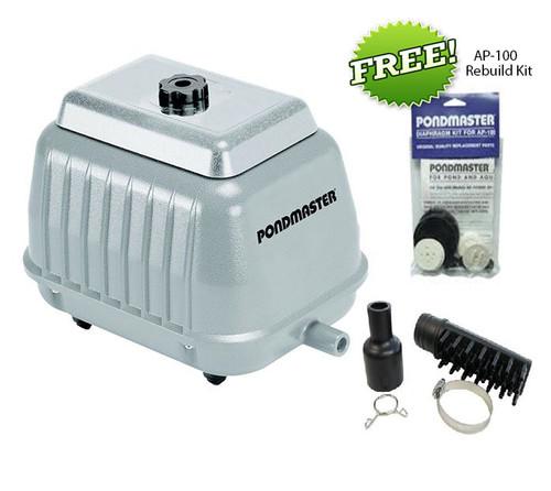Pondmaster AP 100 Air Pump 04580 9150 cu.in./min. FREE AP-100 Diaphragm kit