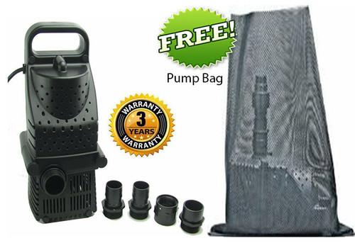 Pondmaster Pro line Hy Drive 1600 gph Waterfall Pond Pump 02663 w/ FREE Pump Bag
