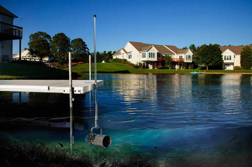 Scott Aerator Pond Dock Mount 1/3 HP 115 Volt Aquasweep with 50ft to 125ft. Power Cord Lengths