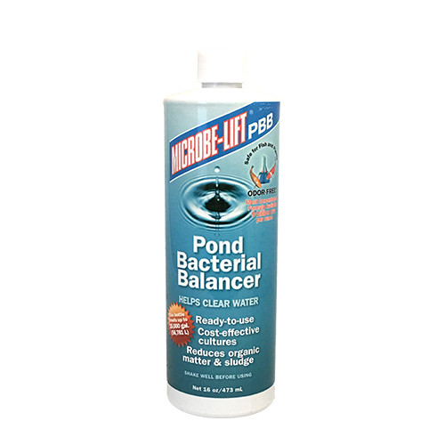 Microbe-Lift Pond Bacterial Balancer 16 oz PBB16 Helps Clear Water