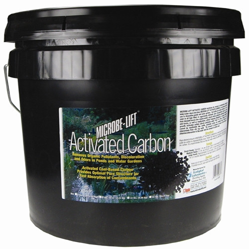 Microbe Lift Carbon Pellets 22 lbs. CARXL Removes Organic Pollutants, Discoloration and Odors in Ponds and Water Gardens