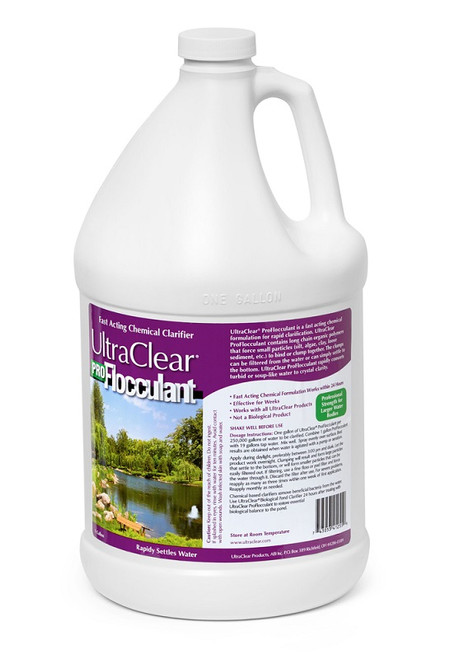 UltraClear Pro Flocculant 1 Gallon 41225 Instant Pond Clarifier