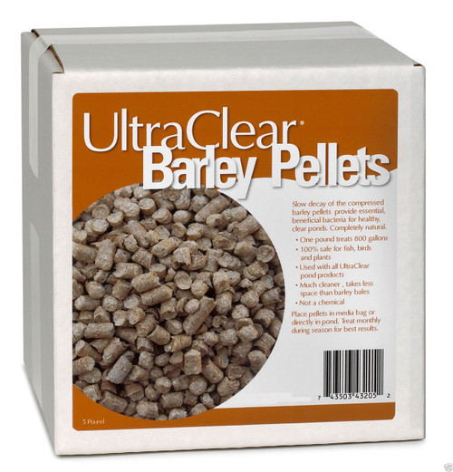 UltraClear Barley Pellets 5 lbs. 3205 Barley Straw Clear Water