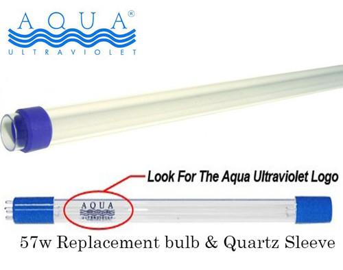 Aqua Ultraviolter UV 57 Watt Replacement Bulb and Quartz Sleeve