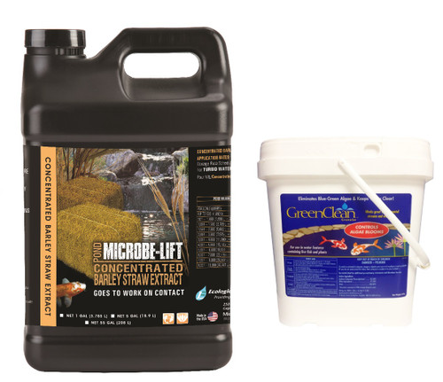 Microbe-Lift Barley Straw Extract 5 gal. MLCBSE5G Liquid Concentrate + FREE GreenClean 8lb.