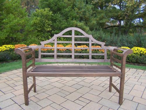 Oakland Living King Louis Aluminum Garden Bench