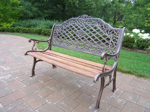 Oakland Living Mississippi Collection Aluminum and Wood Garden Bench