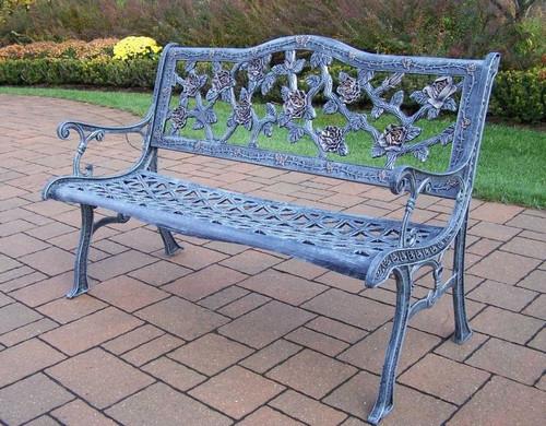 Oakland Living English Rose Park Bench