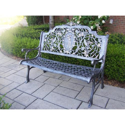 Oakland Living Golfer Aluminum Garden Bench
