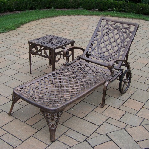 Oakland Living Mississippi Outdoor Aluminum Chaise Lounge
