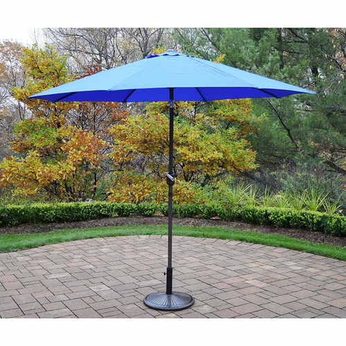 Oakland Living 9' Market Outdoor Umbrella with Stand (5 Color Options)