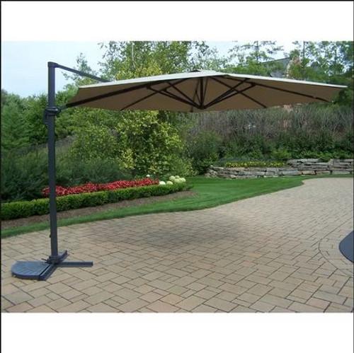 Oakland Living Beige 11 Foot Cantilever Umbrella with Crank & Tilt Function