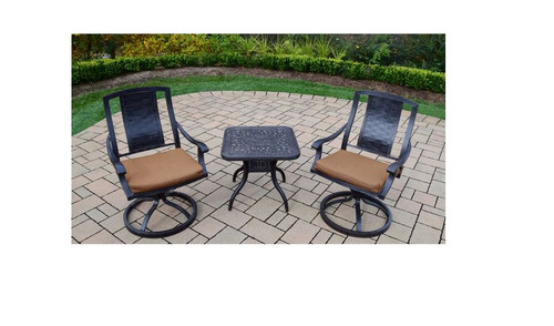 Oakland Living Vanguard 3 Piece Outdoor Dining Set with Cushions
