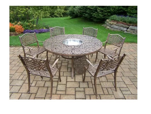 Oakland Living Mississippi 7 Piece Dining Set with Ice Bowl
