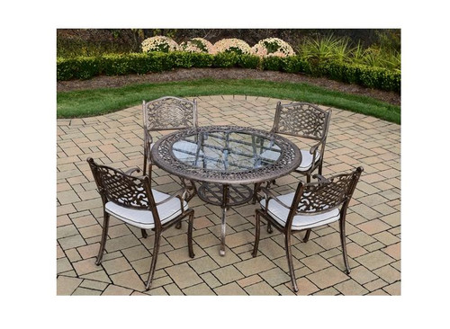 Oakland Living Mississippi 5 Piece Outdoor Dining Set with Cushions