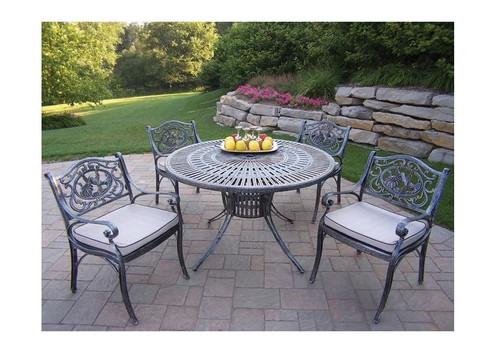 Oakland Living Sunray Hummingbird Dining Set with Cushions