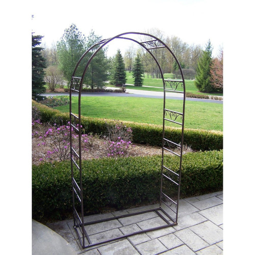 Oakland Living Outdoor Single Iron Arbor with Base