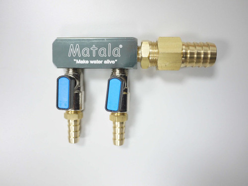 "MATALA/HAKKO:  2-VALVE HD AIR MANIFOLD WITH 5/8"""" BARB SC2-58"