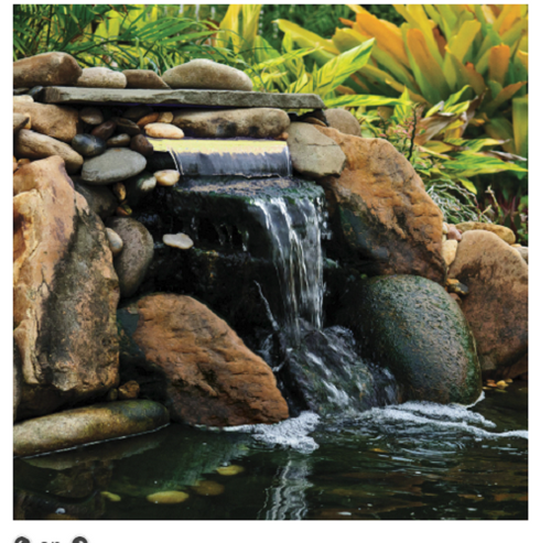 Pond Boss 12 in. White Lighted Waterfall LED Spillway DILM12W