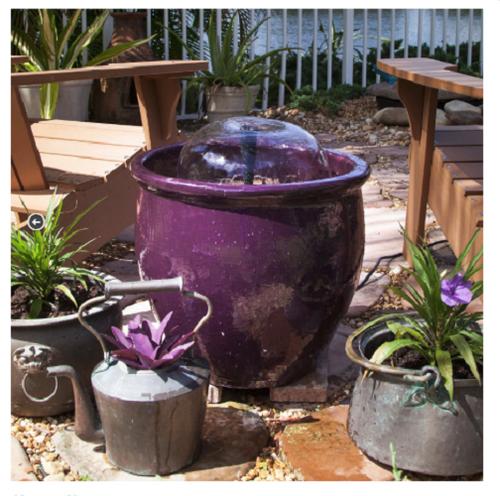 Pond Boss Lit LED Lighting Container Fountain Kit for Decorative Planter DCFKL