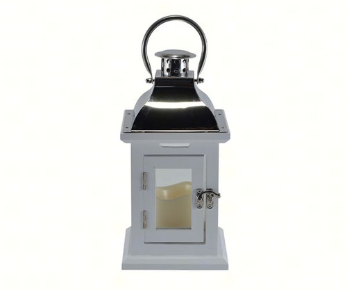 Mark Feldstein White 11 inch LED Lantern
