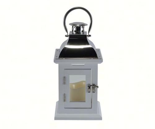 Mark Feldstein White 11 inch LED Lantern