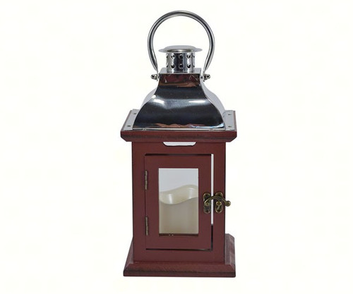 Mark Feldstein Red 13 inch LED Lantern