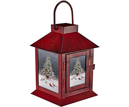 Mark Feldstein Christmas Tree Bird Gathering LED Light Up Lantern