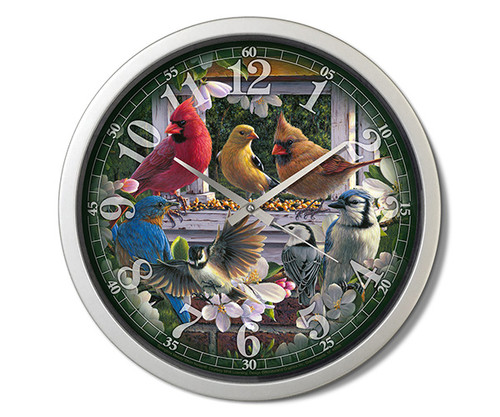 Reflective Art Springtime Melody 15 inch Decorative Clock RAI 29303