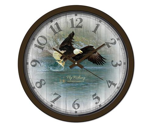 Reflective Art Fly Fishing 15 inch Decorative Clock RAI 29311