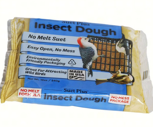 Wildlife Sciences Insect No-Melt Suet Dough 11 oz Suet Cake, 12 Pack WSC362