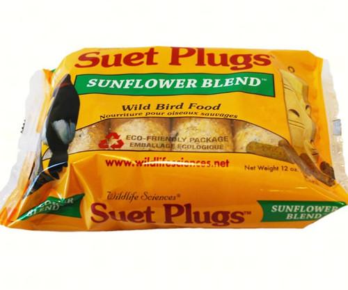 Wildlife Sciences Sunflower Suet Plugs , 12 Pack WSC781