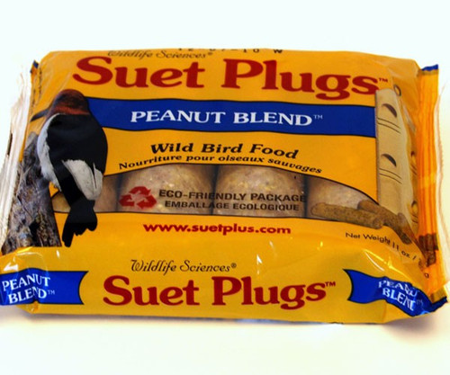 Wildlife Sciences Peanut Blend Suet Plug 11 oz, 12 Pack WSC784