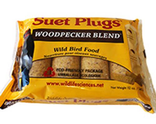 Wildlife Sciences Woodpecker Blend Suet Plug 11 oz, 12 Pack WSC786