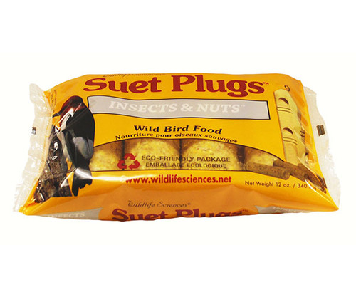 Wildlife Sciences Insects & Nuts Suet Plugs 11 oz, 12 Pack WSC788